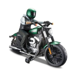 Miniatura---Radio-Controle---Harley-Davidson---Verde---Maisto