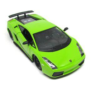 Miniatura-Carro---2007-Lamborghini-Gallardo-Superleggera---1-24---Verde---Burago
