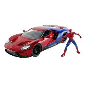 Miniatura-Carro-Ford-GT-Com-Figura-Spider-Man-1-24-Jada