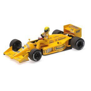 Miniatura-Carro-F1-Lotus-Honda-99T-Ayrton-Senna-Riding-On-Satoru-Nakajima'S-Car-Italian-Gp-1