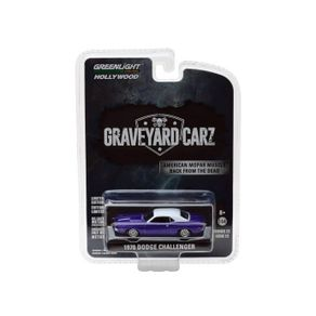 Miniatura-Carro-1970-Dodge-Challenger-Roxo-1-64-Greenlight