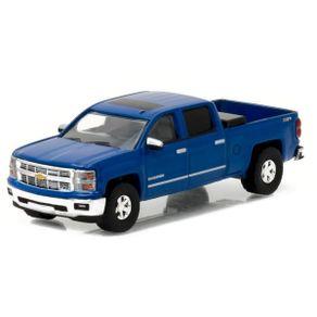Miniatura---Carro---2014-Chevrolet-Silverado-Azul---1-64---Greenlight
