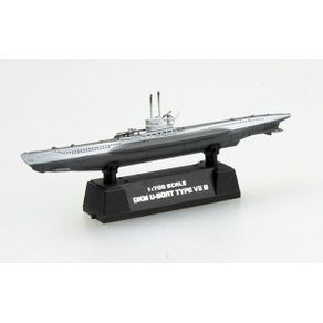 Miniatura---Submarino-German-Army-U-Boat-Type-VII-B---1-700---Easy-Model