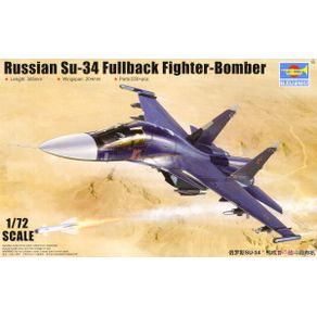 Kit-Plastico-Russian-Su-34-Fullback-Fighter-Bomber-1-72---Trumpeter