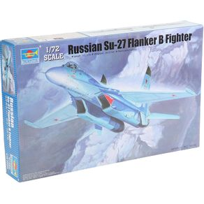 Kit-Plastico-Russian-Su-27-Flanker-B-Fighter-1-72---Trumpeter