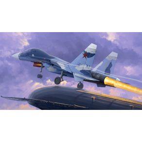 Kit-Plastico-Russian-Su-33UB-Flanker-D-1-72-Trumpeter