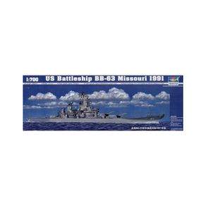 Kit-Plastico-US-Battleship-BB-63-Missouri-1991-1-700---Trumpeter