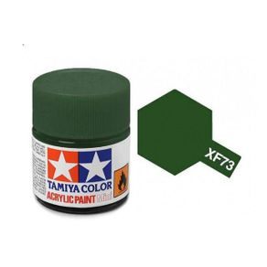 Tinta-Acrilica-Verde-Escuro-10ml-XF-73-Tamiya