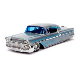 Miniatura---1958-Chevrolet-Impala-Streetflow-20-anos---1-24---Jada