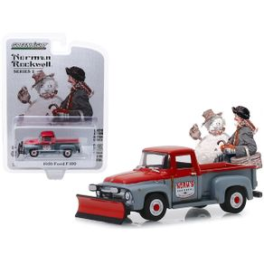 Miniatura---Norman-Rockwell-S2---1956-Ford-F-100---1-64---Greenlight