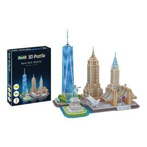 Quebra-Cabeca-3D---New-York-Skyline---Revell